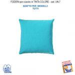 Federa In Tinta Per Cuscino Colore  Turchese Un-7 (FS)