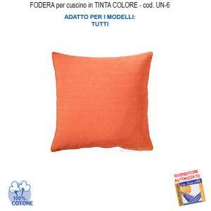 Federa In Tinta Per Cuscino Colore Arancione Un-6 (FS)