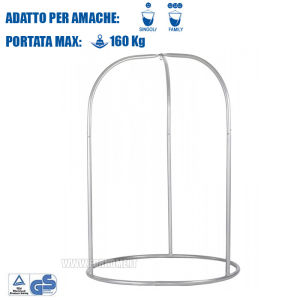 Height adjustable structure for Roman hanging hammocks up to 160KG ROA16-8