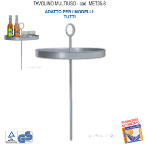 Multipurpose table for hammock MET35-8 - fine series -