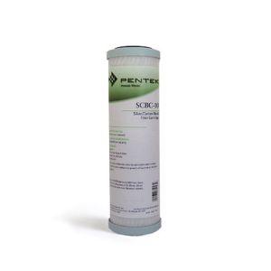 "Filtro Ricambio Pentek Scbc-10 Carbon Block Battereostatica 9-3/4"" - 0,5 Micron"