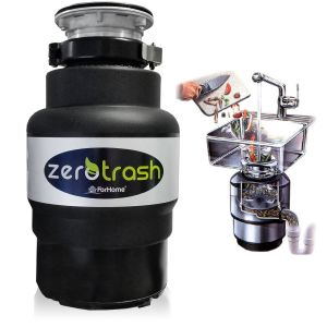 TritaRifiuti Dissipatore ZeroTrash ForHome® Dissipatore di Rifiuti Organici per Casa Sotto Lavello - mod. 400 - 1/2HP