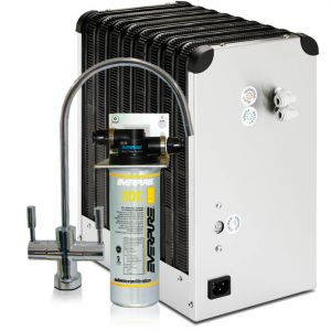 REFRIGERATOR WATER DEPURATOR WITH SILVER WITH EVERPURE 2 WAY WATER DEPURED ENVIRONMENT AND DEFROST REFRIGERATED