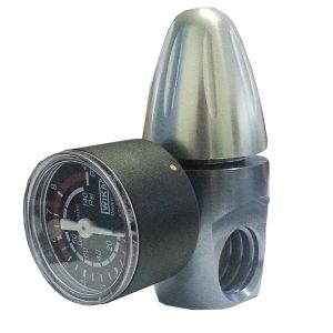 "CO2 PRESSURE REDUCER FOR 450gr or 1KG BOMBs RECOVERABLE ACME OUTPUT OUTPUT 1/8 ""F. NPTF"