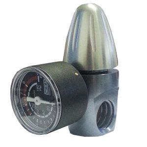 """Riduttore Di Pressione Co2 ForHome® Per Bombole Da 450Gr O Da 1Kg Ricaricabili Attacco Acme Out Filetto 1/8"""" F. Nptf"""