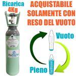 Servizio Ricarica Bombola Co2 da 4Kg a Domicilio con Valvola Residuale Certificata