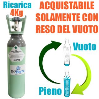 BOTTLE SERVICE CHARGE FROM CO2 4KG VALVE WITH RESIDUAL CERTIFIED